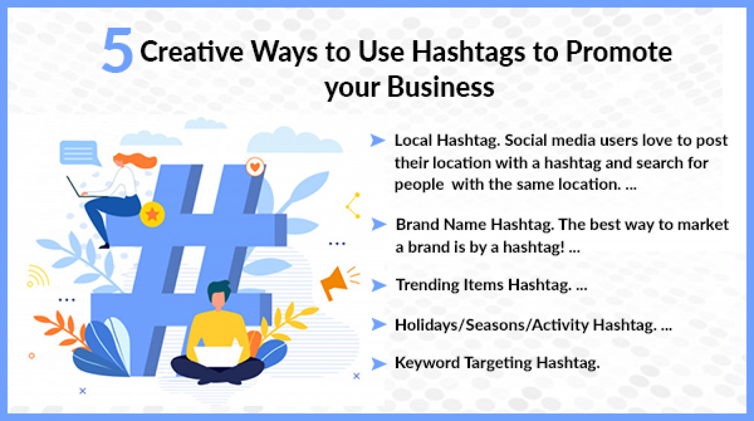 Do you use hashtags to promote your business?  Infographic