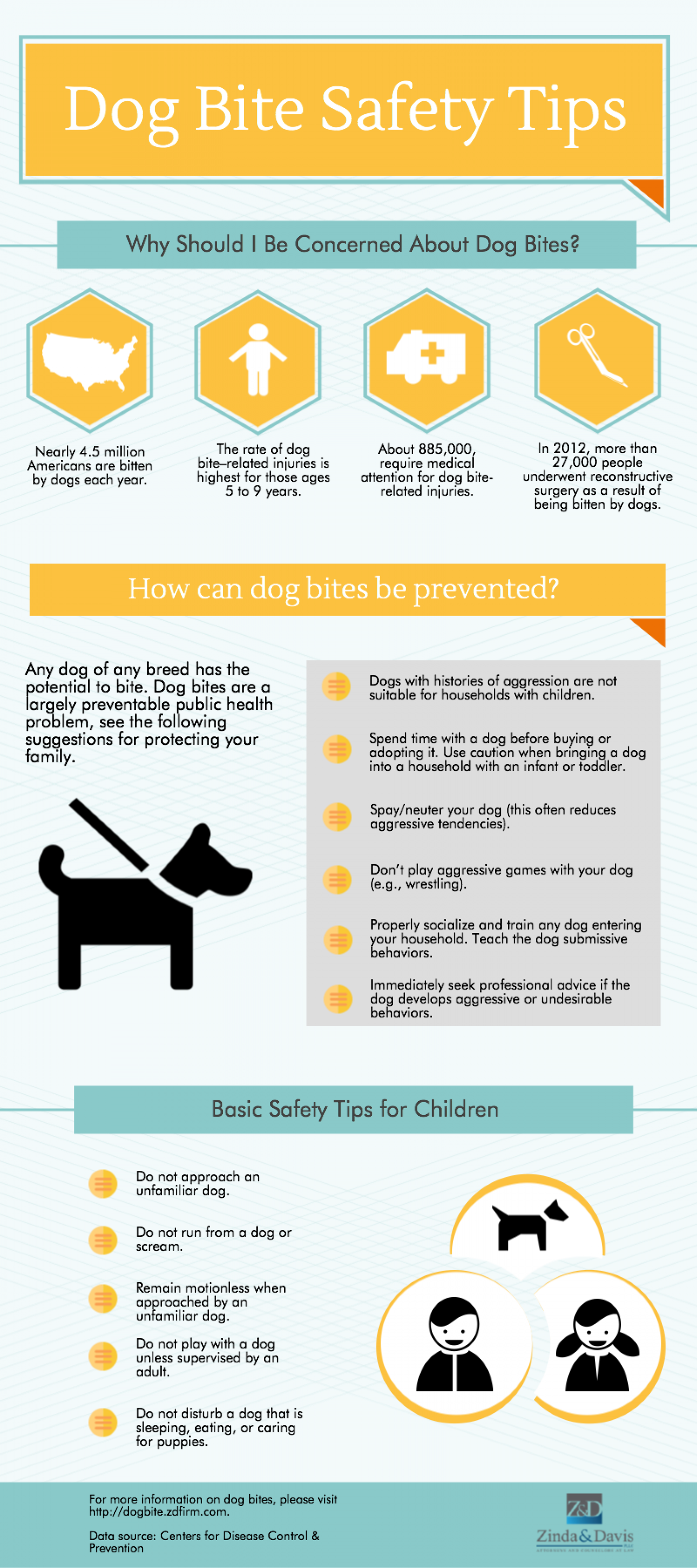 Dog Bite Safety Tips Infographic