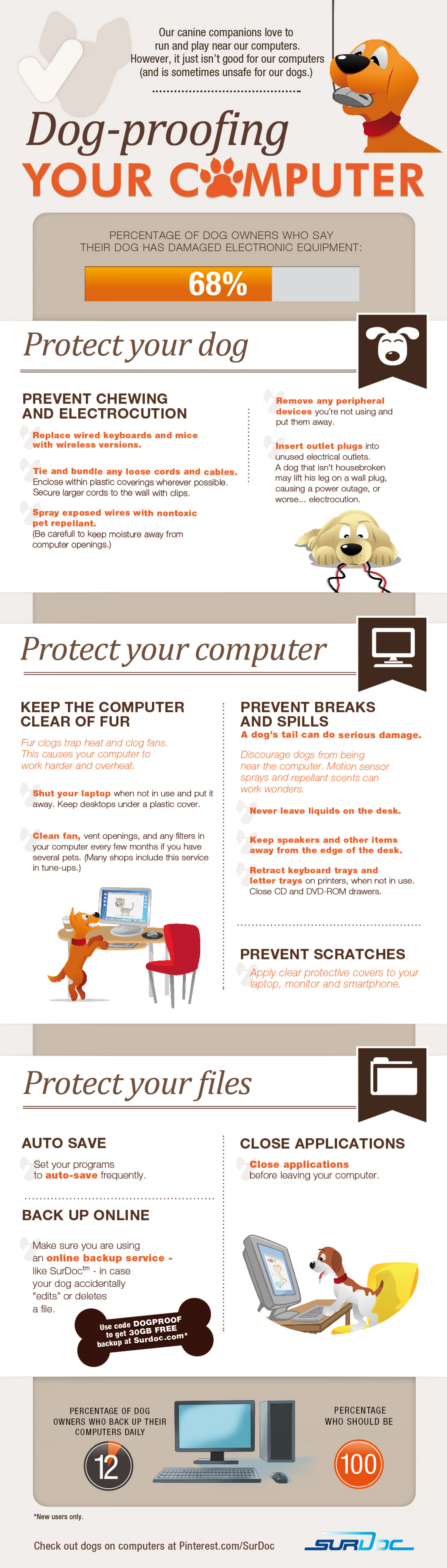 Dog-Proofing Your Computer Infographic