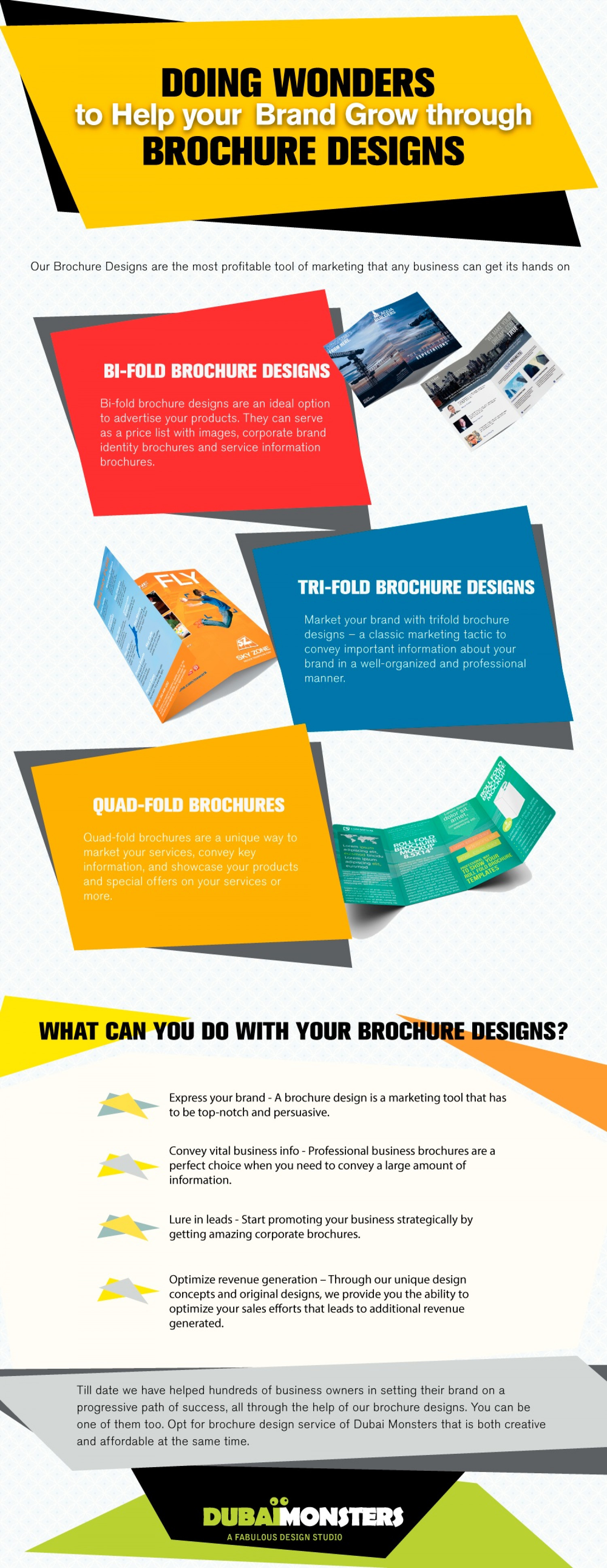Doing Wonders to Help your Brand Grow through Brochure Designs   Infographic