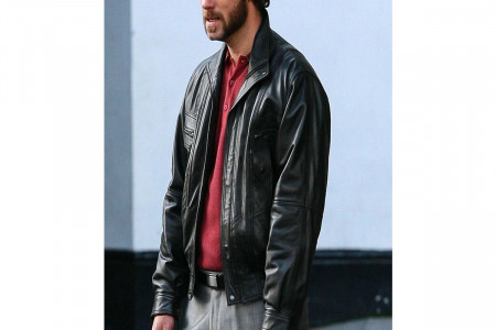 DOM HEMINGWAY JUDE LAW BLACK DESIGNER LEATHER JACKET Infographic