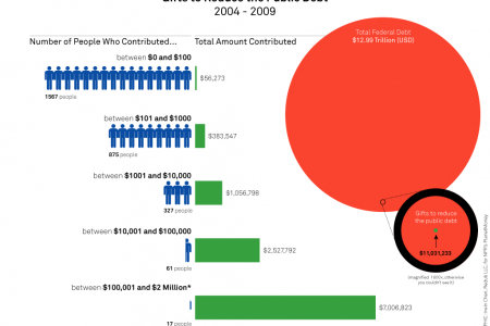 Donations to Pay Down the National Debt Infographic