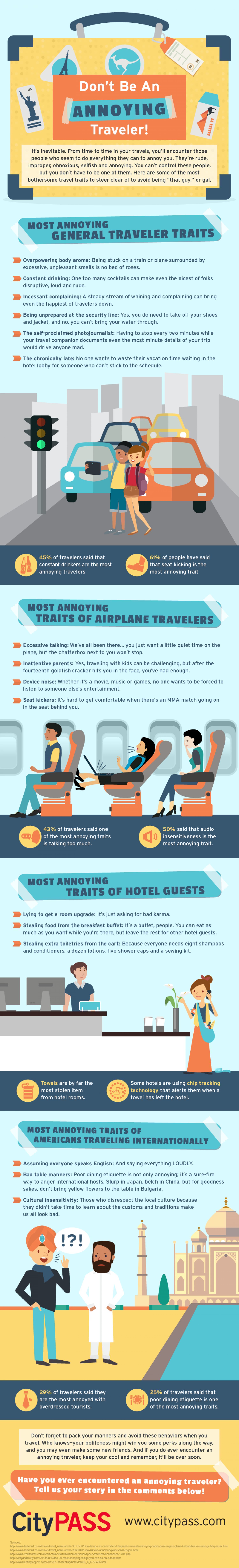 Don't Be An Annoying Traveler Infographic