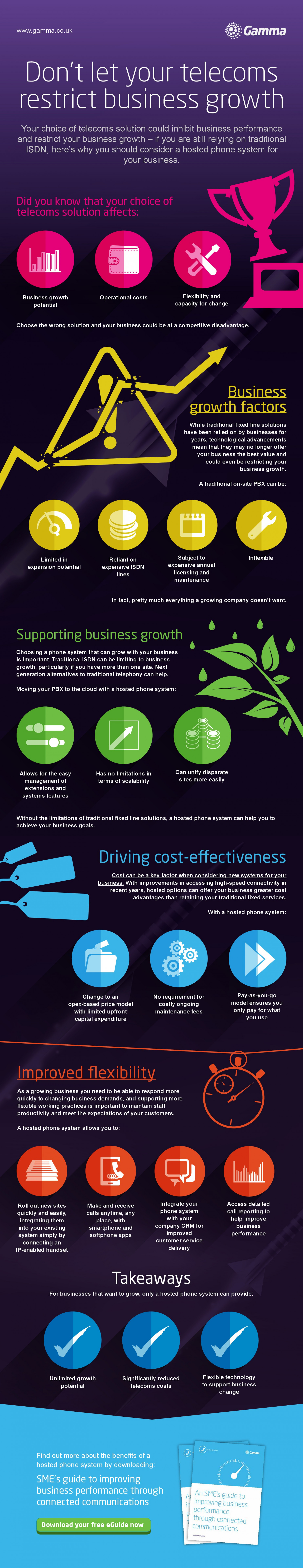 Don't Let Telecoms Restrict Business Growth Infographic