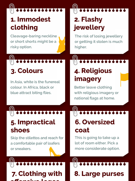 Don't Take These 8 Things Abroad Infographic