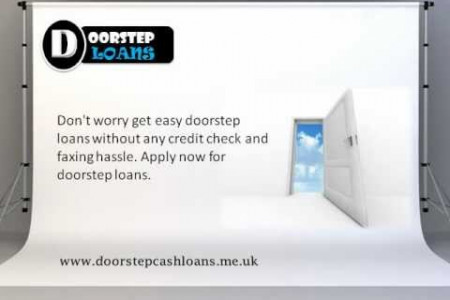 Doorstep Cash Loans Get The Financial Helps Infographic
