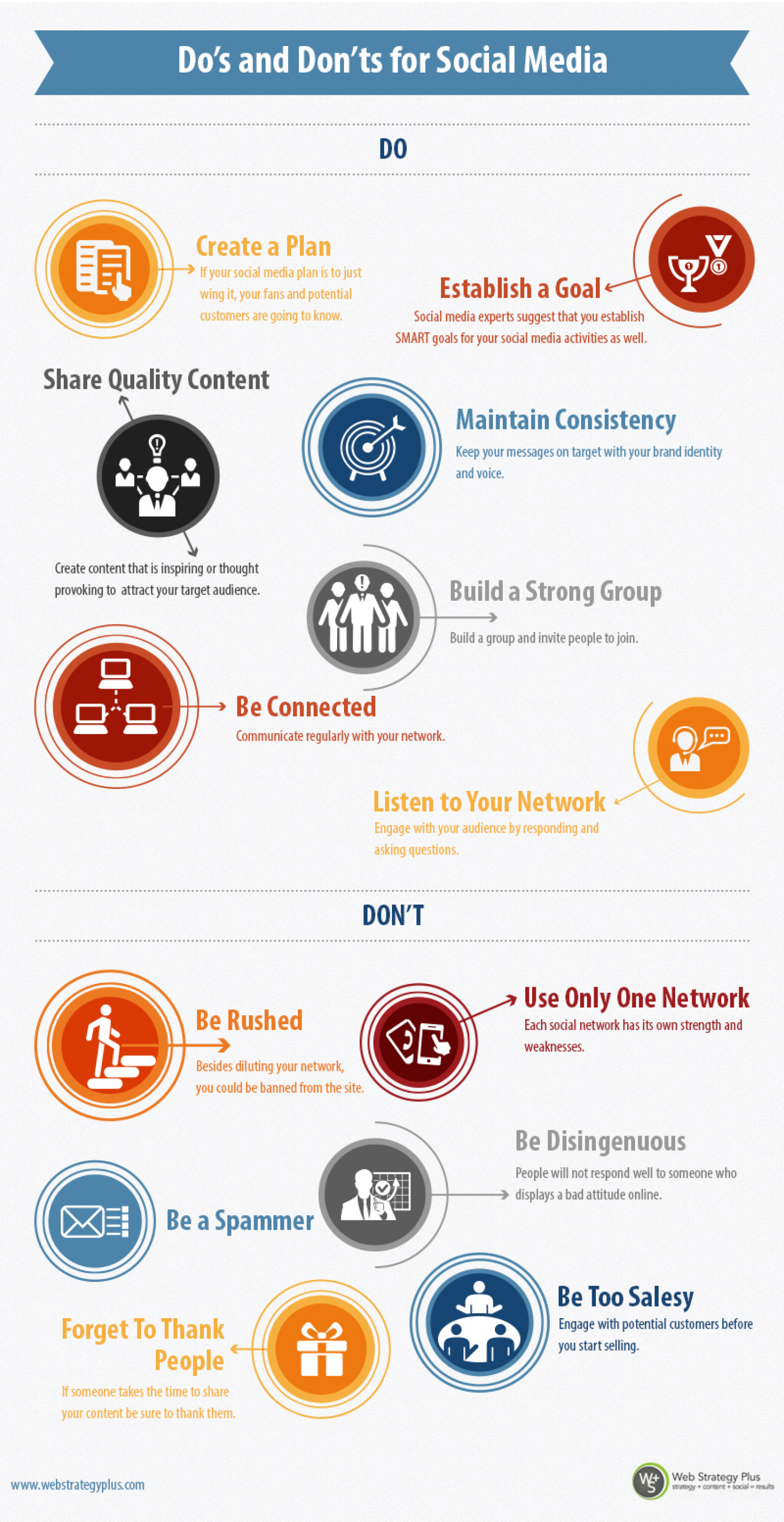 Do's and Don'ts for Social Media Infographic