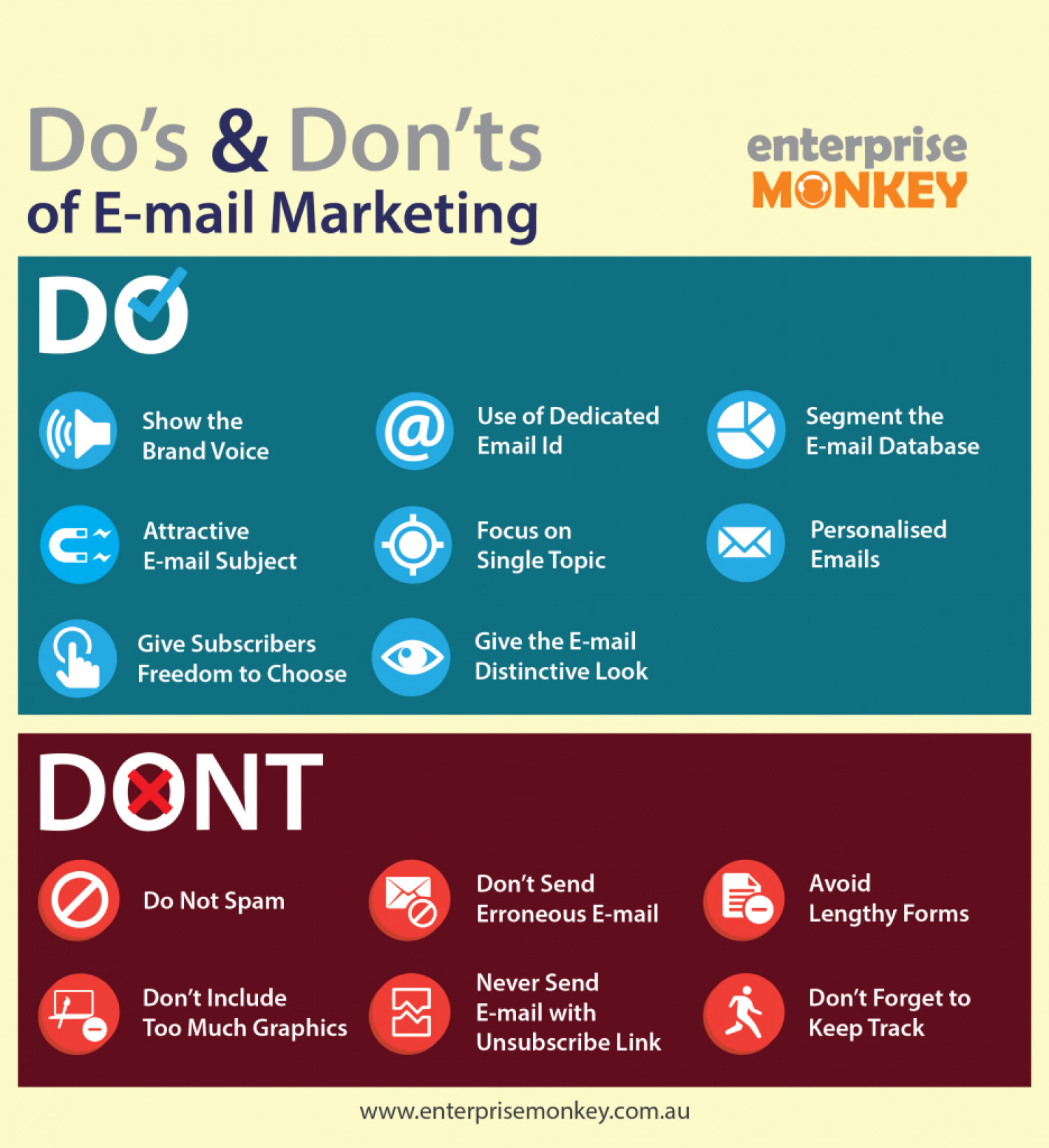 Do's and Don'ts of Email Marketing Infographic