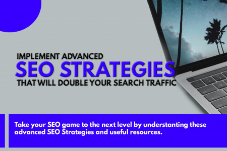 Double your Search Traffic by Implementing Advanced SEO Strategies. Infographic