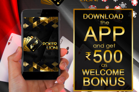 Download PokerLion App Ang Get Rupees 500 Free welcome Bonus Infographic
