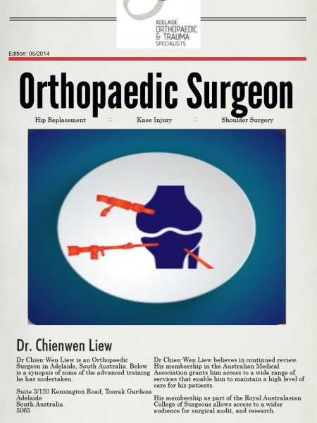 Dr. Chienwen Liew Orthopaedic Infographic