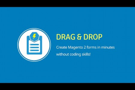 Drag & Drop | Blue Form Builder | Magento 2 Form Builder Extension Infographic
