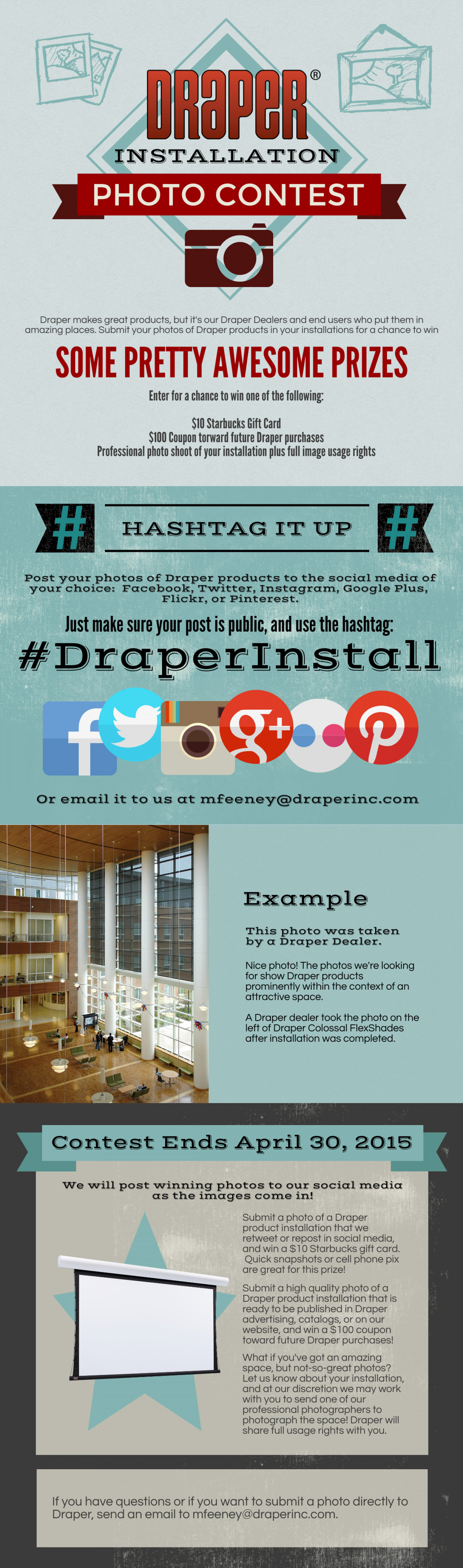 #DraperInstall Social Media Photo Contest Infographic