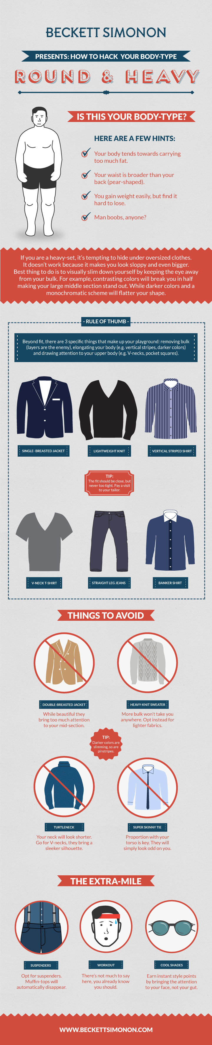 Dress For Your Body Type Style Tips For Fat Men Visual Ly