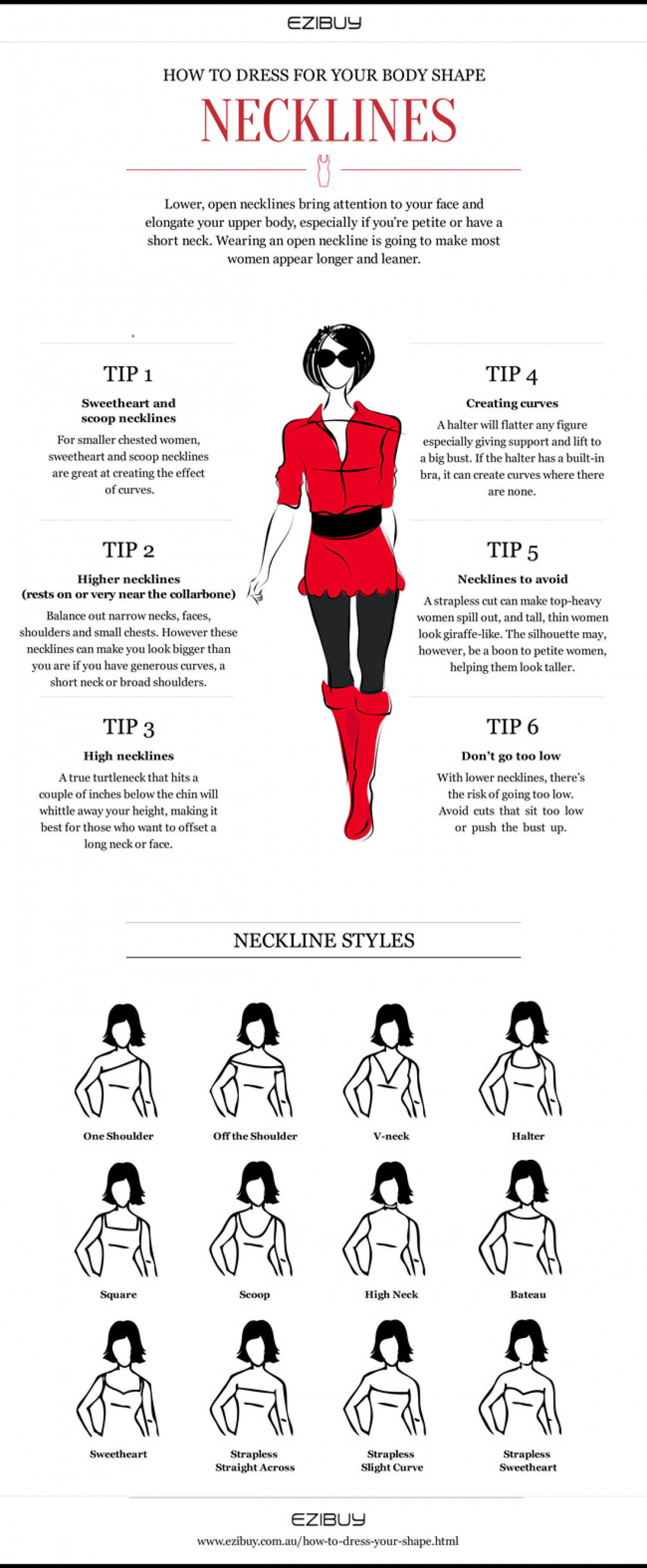 Dress Neckline Styles Tips On Wearing Them Infographic