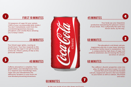 Drinking a can of Coke  ? See what will happen after one Hour Infographic