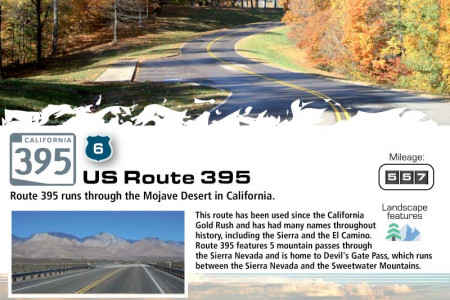 Driving America's Most Interesting Highways Infographic