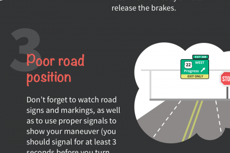 Driving Test Tips: 5 Common Mistakes When You Start Driving - Driver-Start.com Infographic