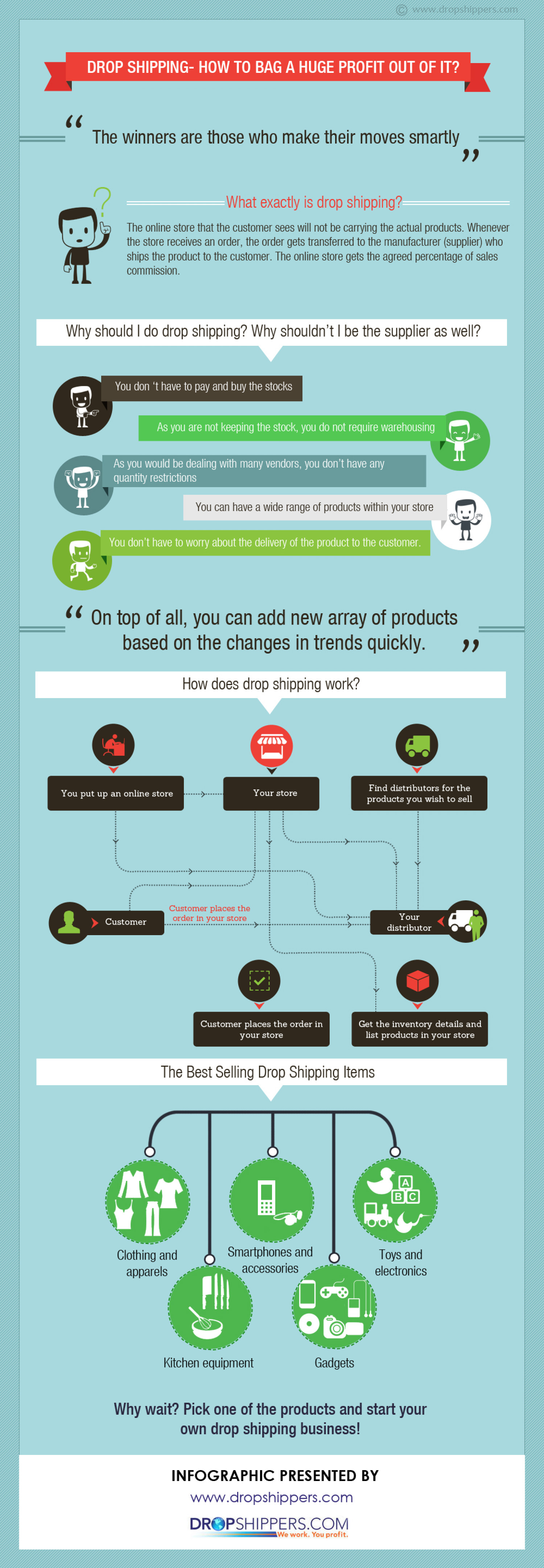 Drop Shipping Business Brings Huge Profit for You At The Expense Of Limited Labor and Time Spent Infographic
