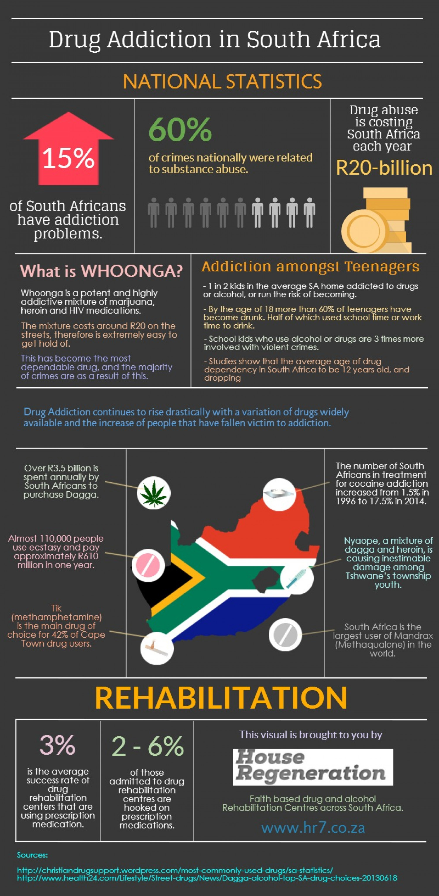 Drug Addiction in South Africa 2014 Infographic
