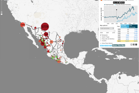 Drug War in Mexico - Map Infographic