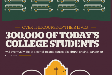 Drugs and Alcohol on Campus Infographic