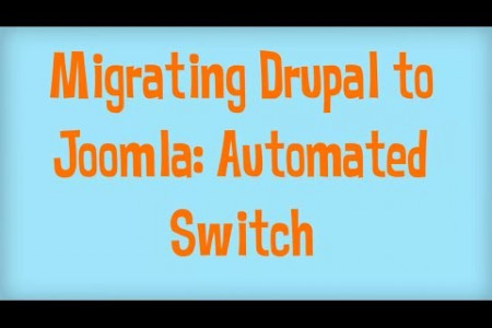 Drupal to Joomla: Don't Stray from the Road Infographic