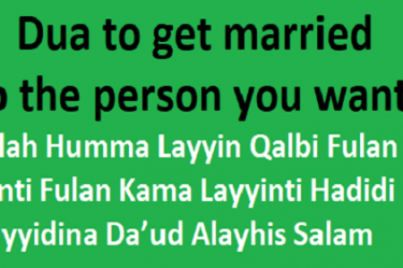 Dua For Making Someone Love You Infographic