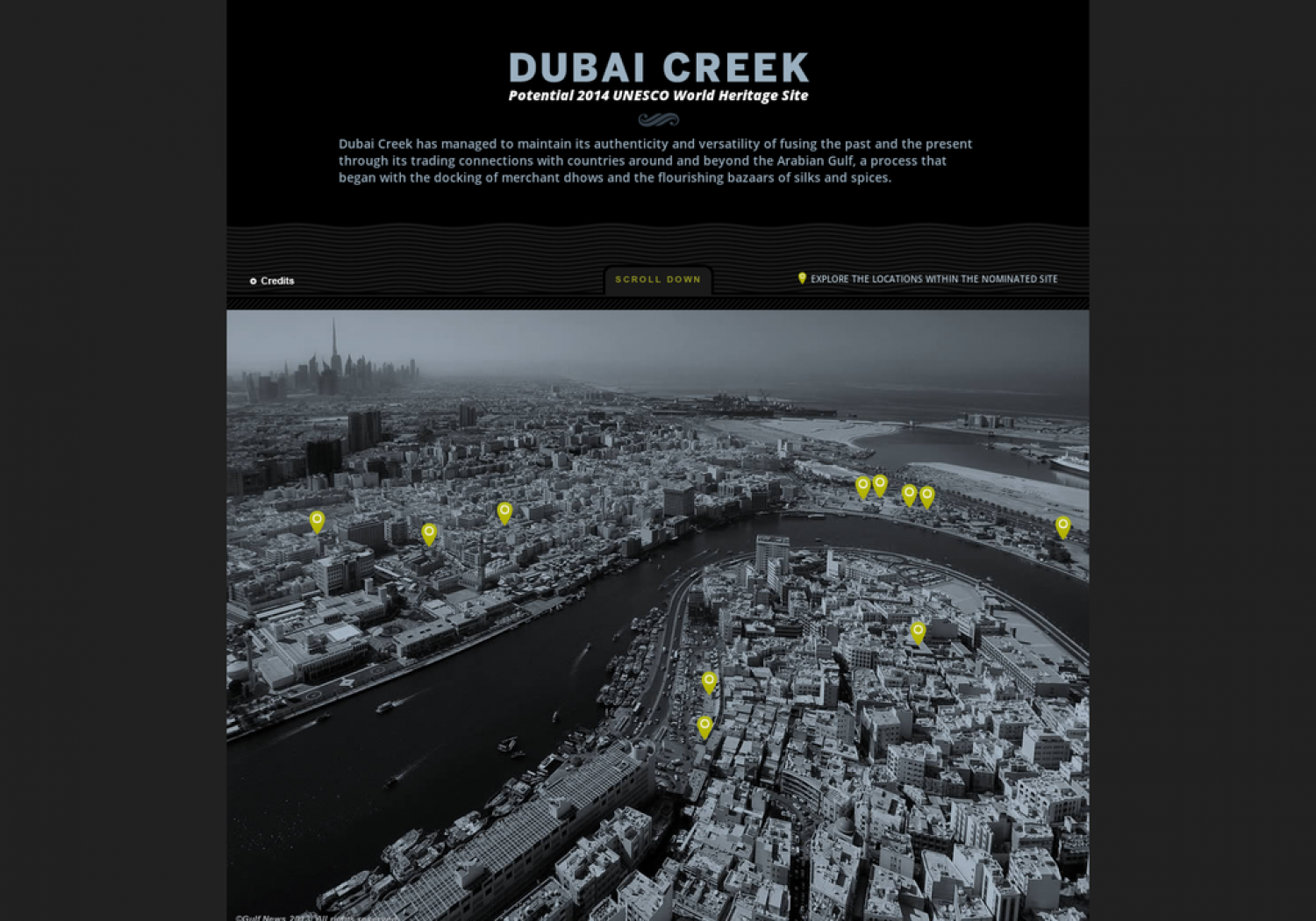 Dubai Creek, potential 2014 UNESCO World Heritage Site Infographic