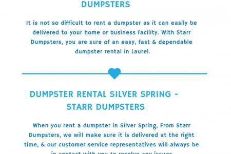 Dumpster Rental Fort Washington - Starr Dumpsters Infographic