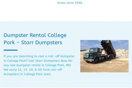 dumpster rental silver spring - Starr Dumpsters Infographic