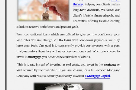 E Mortgage Capital - Joseph Shalaby Infographic