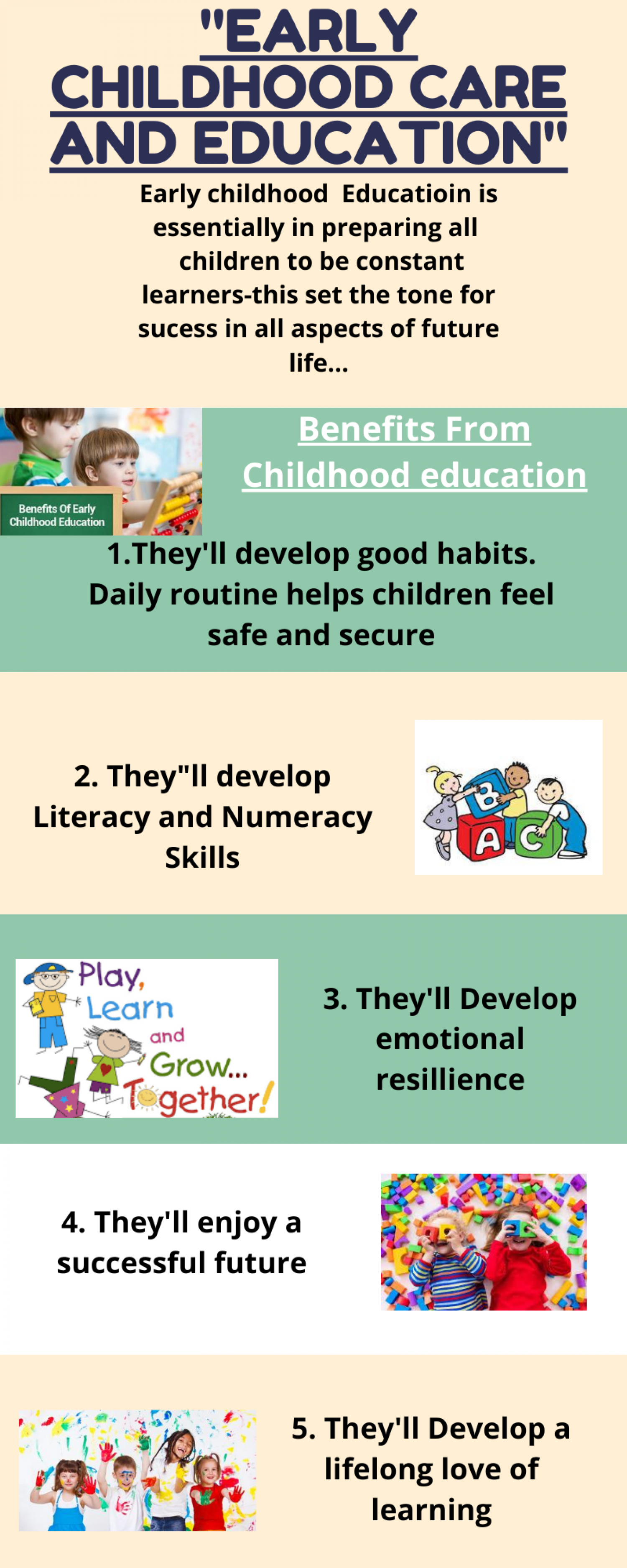 EARLY CHILDHOOD CARE AND EDUCATION Infographic