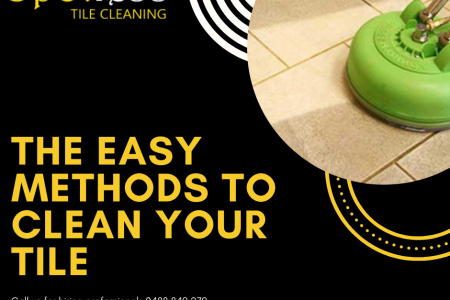 Easiest Methods to Clean your Tile Infographic