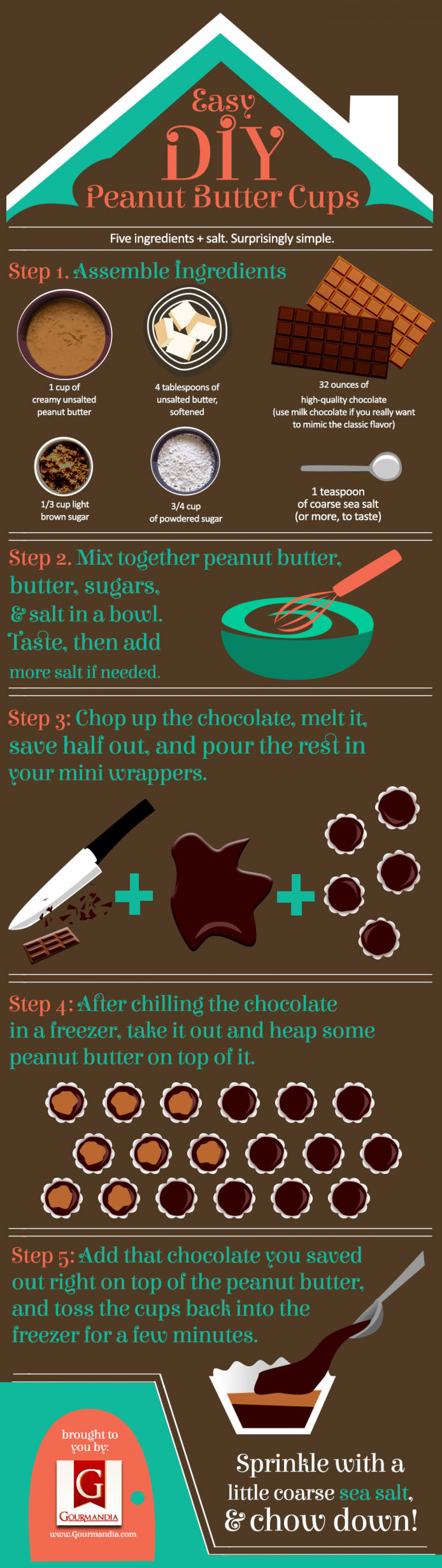 Easy DIY Peanut Butter Cups Infographic