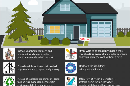 Easy Home Improvements and Repair Tips Infographic