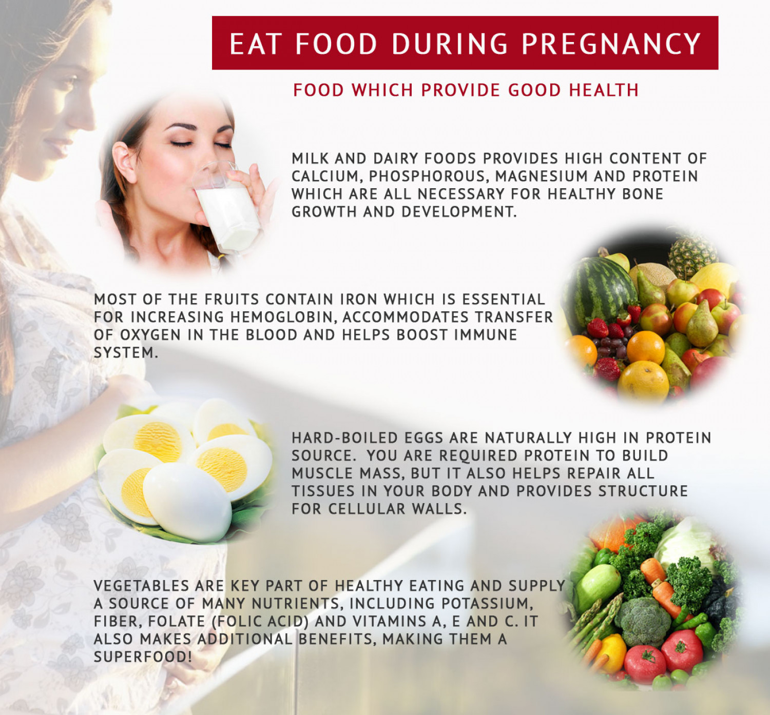 Eat food during pregnancy Infographic