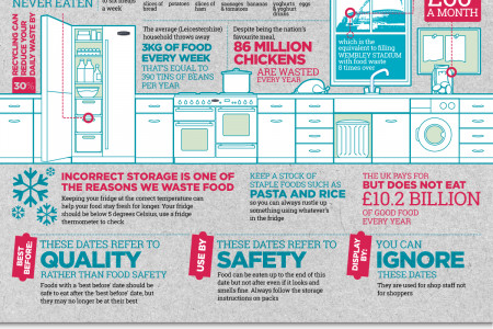 Eat Well, Waste Less Infographic