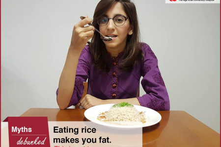 Eating rice makes you fat. Infographic