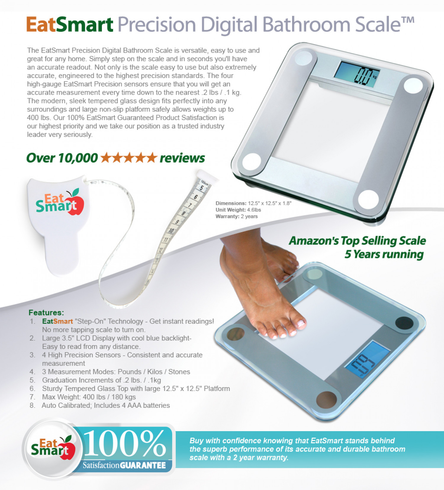 Eatsmart Precision Digital Bathroom
