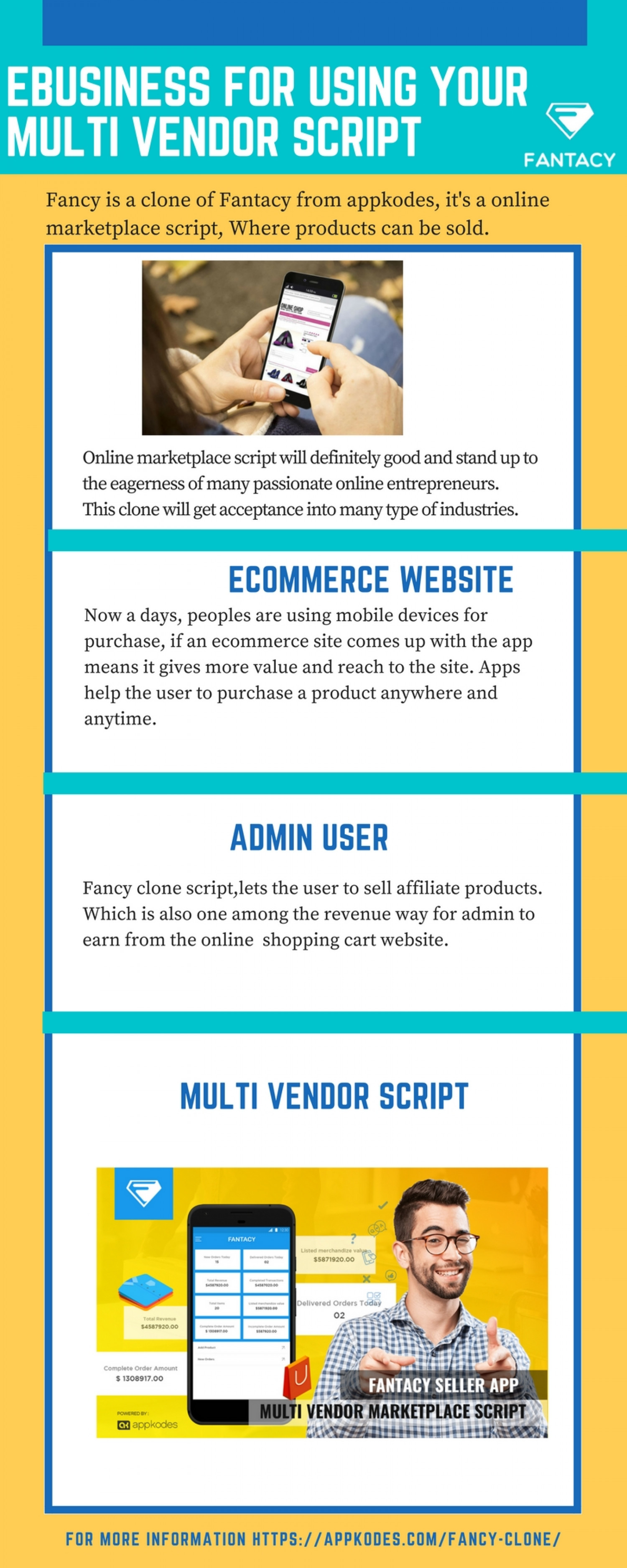 Ebusiness for using your Multi Vendor Script Infographic