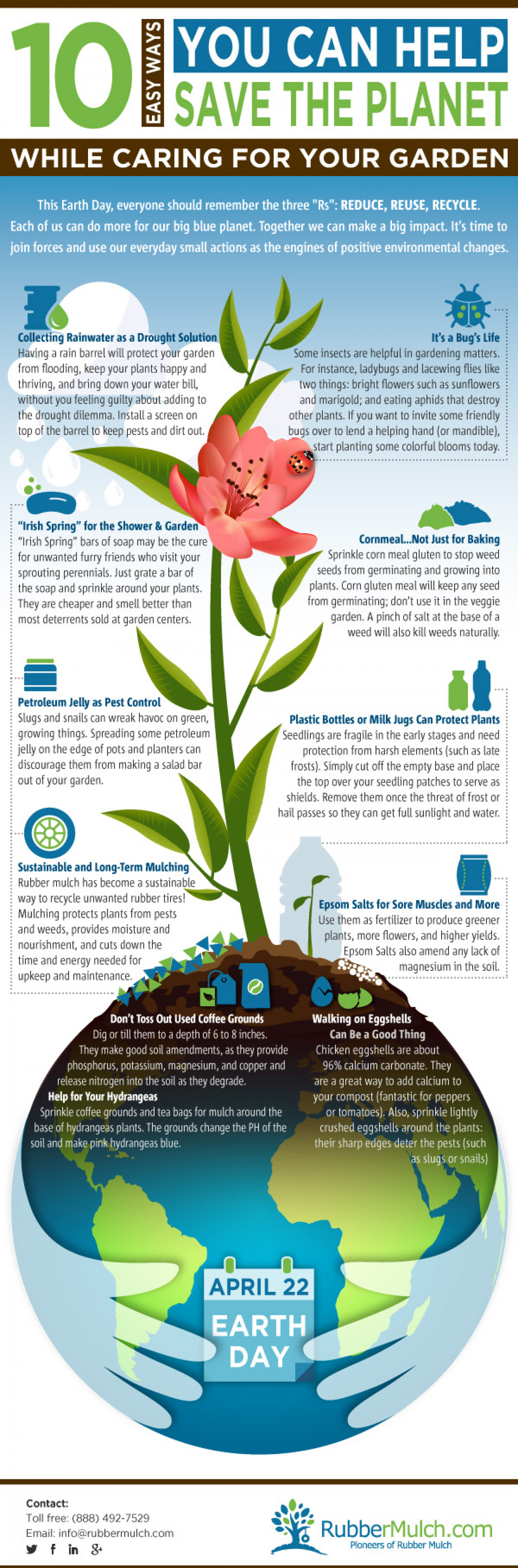 Eco Friendly Gardening Tips  Infographic