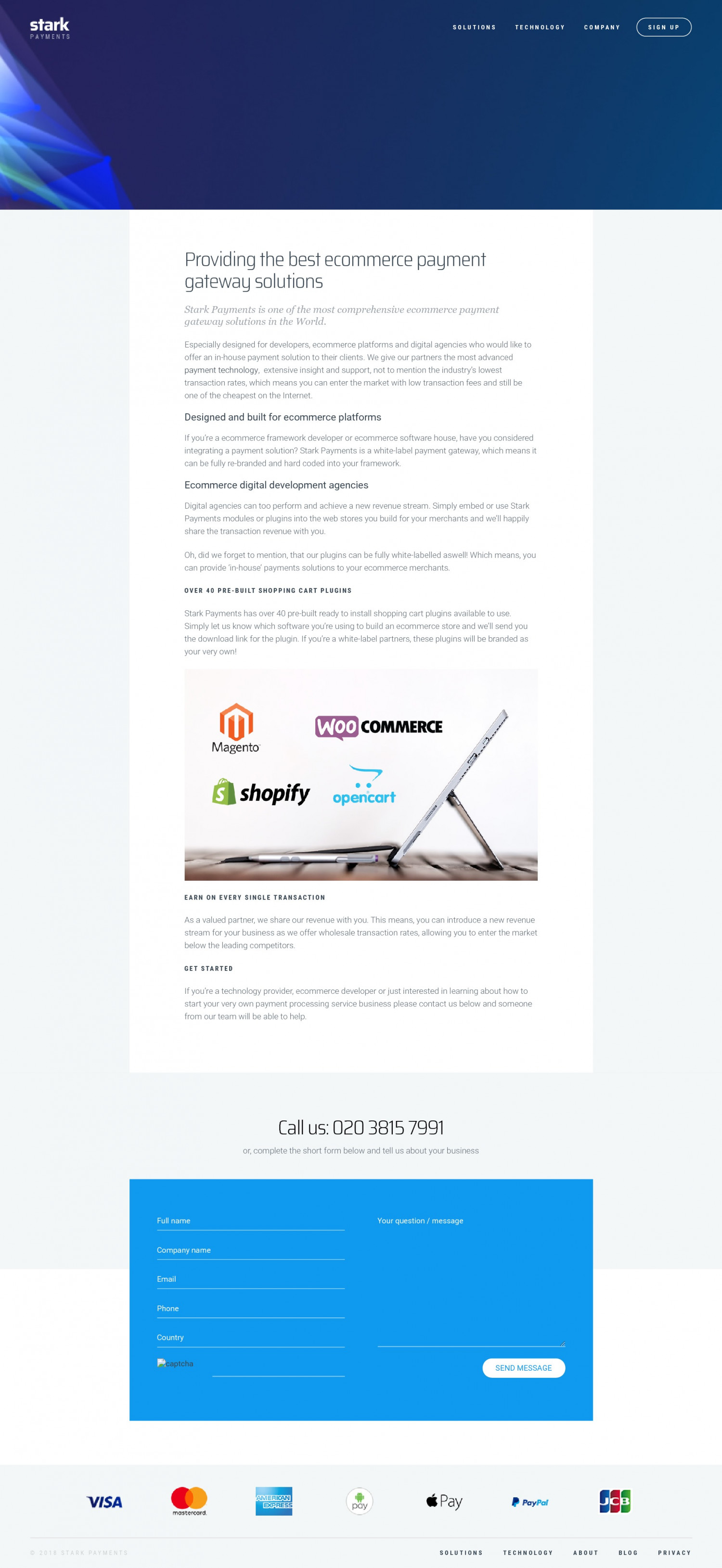 eCommerce Payment Gateway Solutions - Stark Payments Infographic