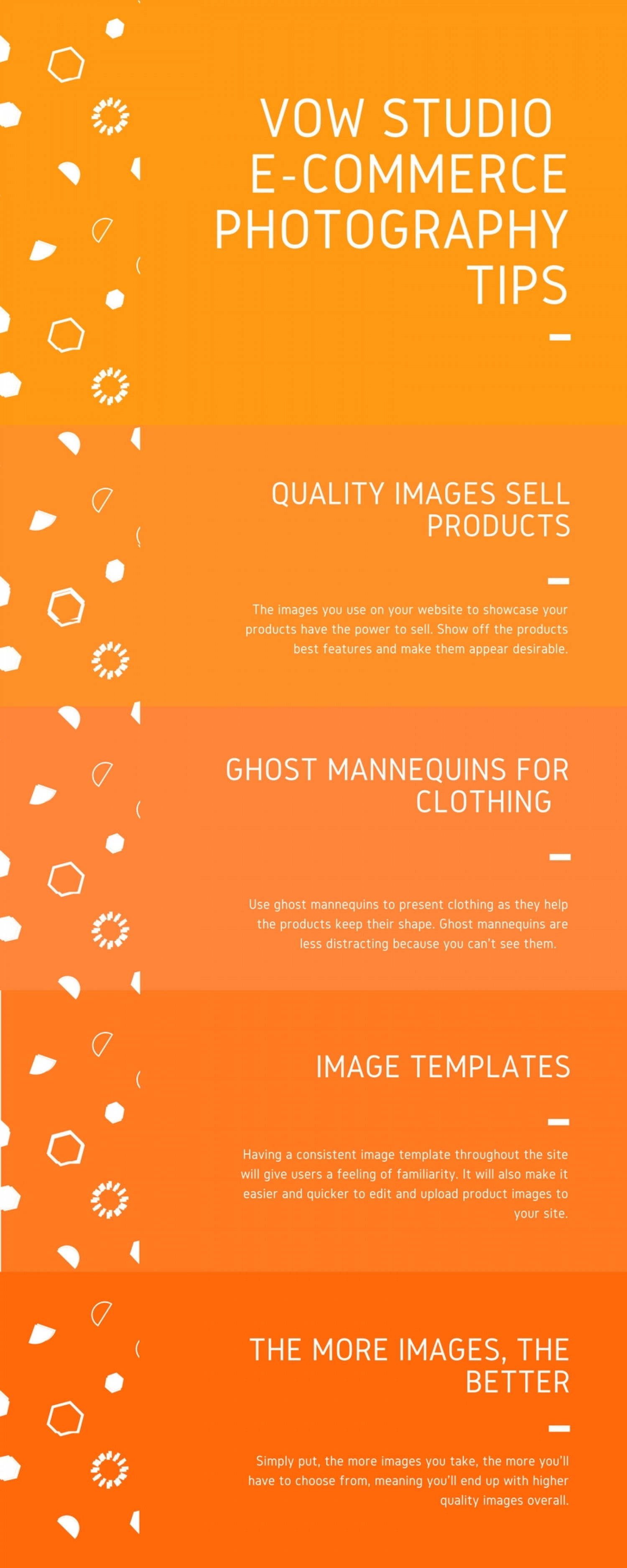 E-Commerce Photography Tips Infographic
