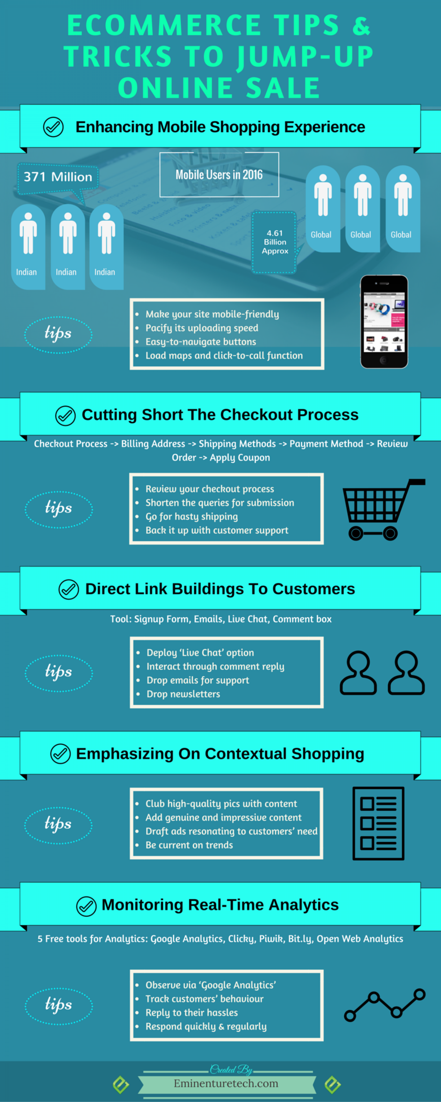 E-Commerce Tips & Tricks to Jump-up Online Sale Infographic