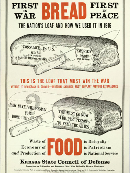 Economy of Food is Patriotism Infographic