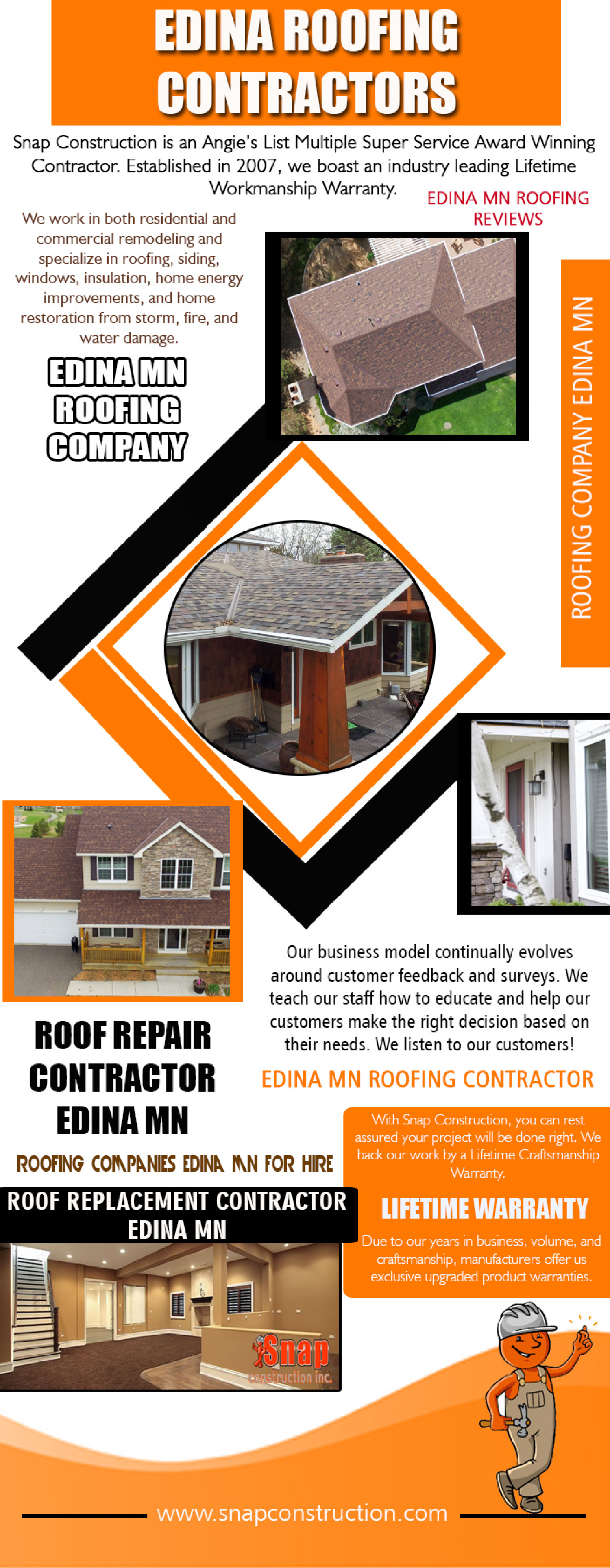 Edina Roofing Contractors Infographic