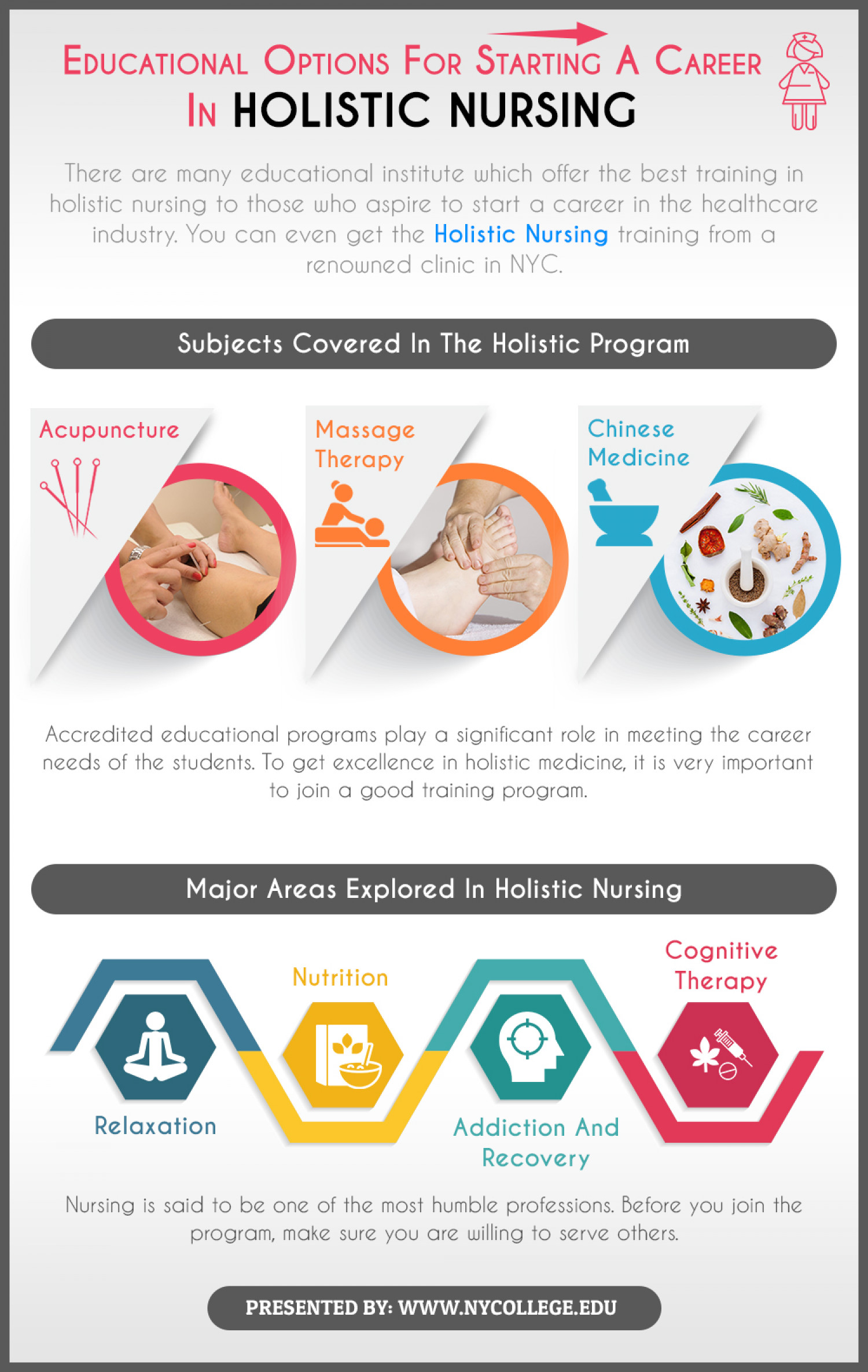 Educational Options For Starting A Career In Holistic Nursing Infographic