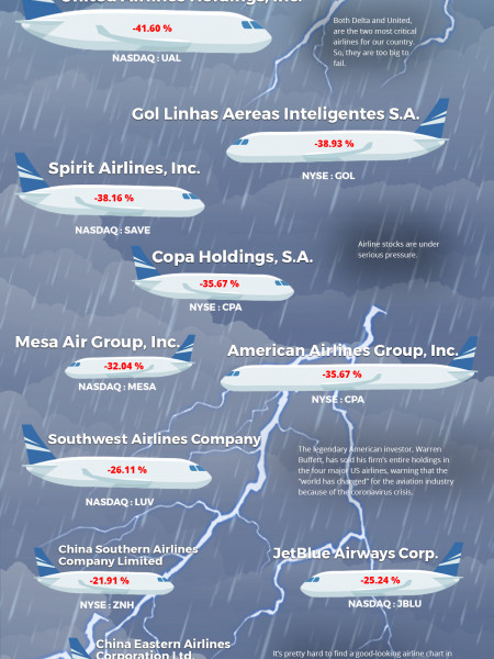 Effect of COVID'19 on U.S. Airline Industry Infographic