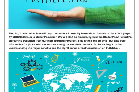 Effect of Mathematics on a student's carrier Infographic
